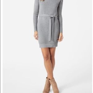 New JustFab Grey Sweater Rib Knit Dress Sz Small